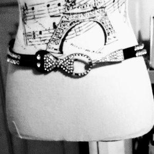 Leather Embellished Belt